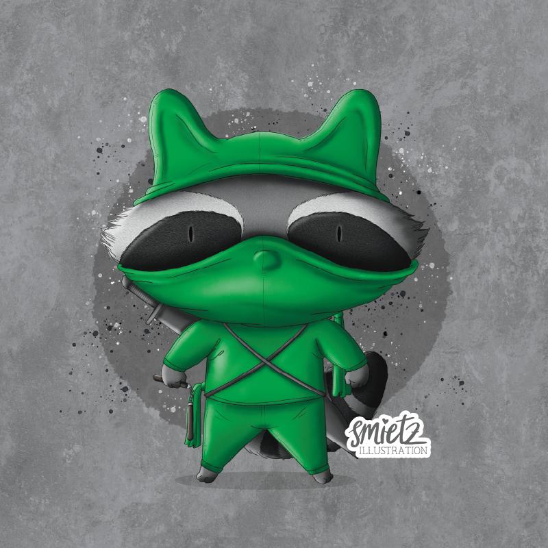 smietz-illustration-02-waschbaer-ninja